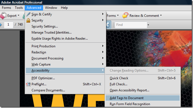 Add tags to PDF